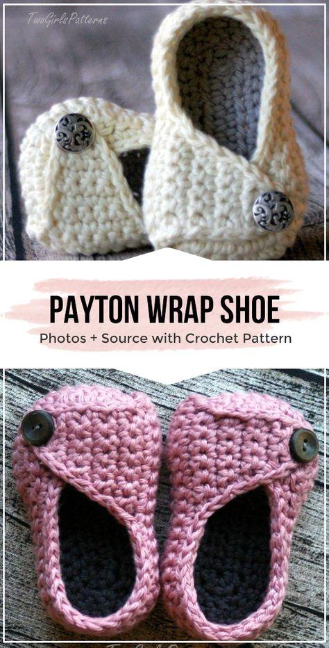 Crochet Payton Wrap Shoe pattern
