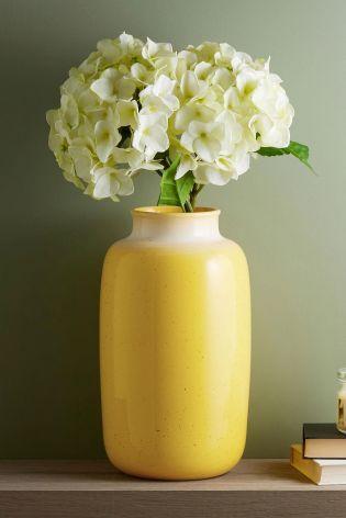 Yellow Vase Glass Flower Vases, Yellow Glass Vase Uk