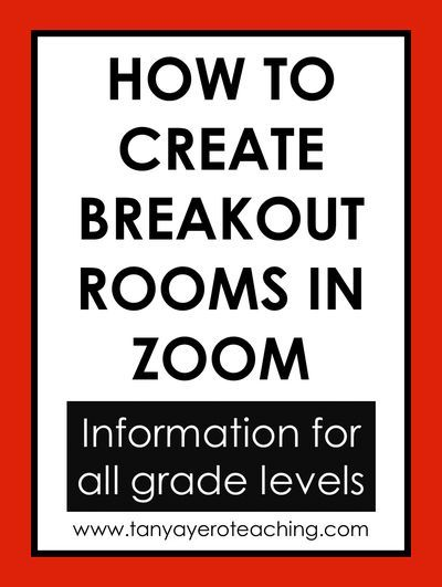 How To Create Zoom Breakout Rooms For Distance Learning Distance Learning Group Activities For Teens Teaching Teens