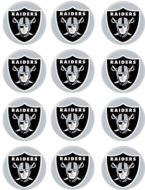Oakland Raiders | Football | Edible Image | Cupcake Toppers | Shore Cake Supply