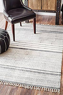 Amazon Com Nuloom Handmade Flat Weave Textured Stripes Cotton Fringe Area Rug 7 6 X 9 6 Kitch How To Clean Carpet Clean Car Carpet Carpet Cleaning Hacks