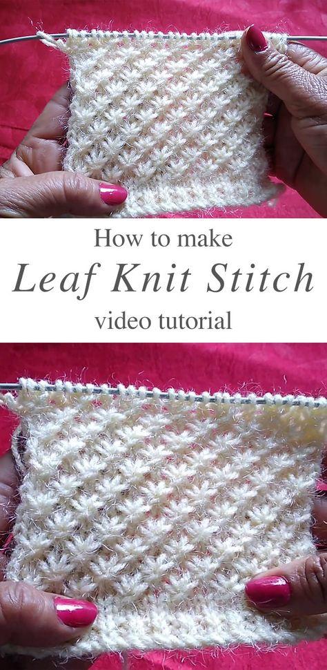 Knitting Stiches, Lace Knitting, Crochet Stitches, Crochet Loop, Loom Knit, Knitting Projects, Crochet Projects, Knitting Tutorials, Knitting Patterns
