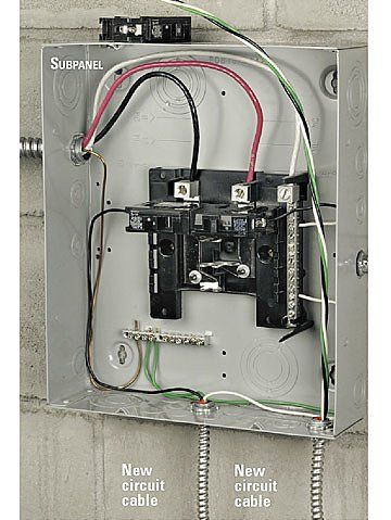 How To Install An Electrical Subpanel Home Electrical Wiring Diy Electrical Electricity
