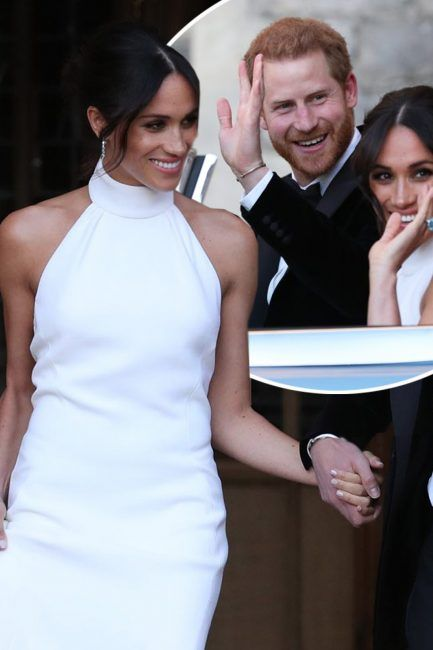 meghan markle s second wedding dress all the details on the duchess of sussex s second royal wedding gown from designer stella mccartney to staggering cost megan markle wedding dress royal wedding megan markle wedding dress
