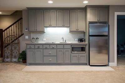 Full Kitchen Wall Basement Kitchenette Basement Apartment Basement Kitchen