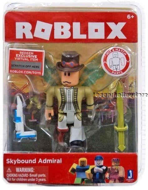 Roblox Action Figure Skybound Admiral Virtual Code Jazwares