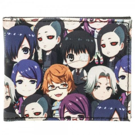 From the hit anime Tokyo Ghoul comes this officially licensed Tokyo Ghoul Bi-Fold Wallet! Featuring the colorful cast of Tokyo Ghoul as cute chibi-style charact Me Anime, Anime Chibi, Anime Manga, Anime Guys, Anime Art, Anime Stuff, Tokyo Ghoul Fan Art, Tokyo Ghoul Manga, My Hero Academia