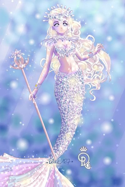 Arctic Mermaid By Bluesmooth127 Sailor Moon Dress Up Anime Mermaid Cute Galaxy Wallpaper Beautiful Fantasy Art