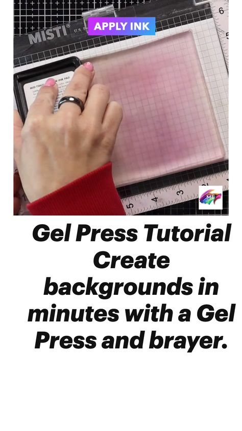 Gel Press Tutorial - Backgrounds in Minutes!