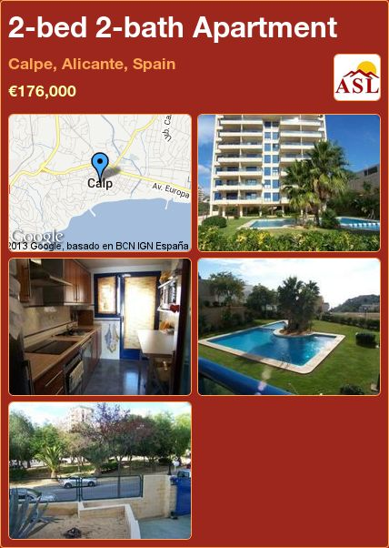 Apartment For Sale In Calpe Alicante Spain With 2 Bedrooms 2 Bathrooms A Spanish Life Gata De Gorgos Villa Alicante
