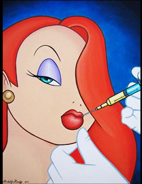 Jessica Rabbit Lip Injections Disney Cartoon Characters Disney