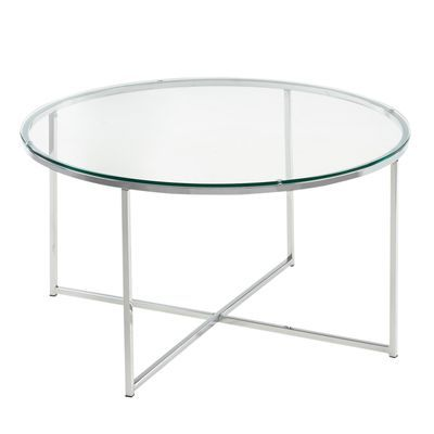 Round Glass Chrome Coffee Table Coffee Table Round Glass