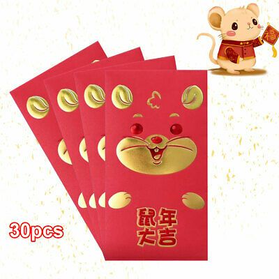 Advertisement 30pcs Rat Packet Accessories Cartoon Red Envelopes 2020 Chinese New Year Cute In 2020 Chinese New Year Party Supplies