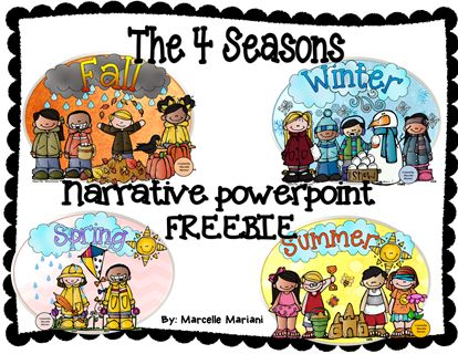 The 4 SEASONS- Narrative Power Point FREEBIE * Best Elementary Art
