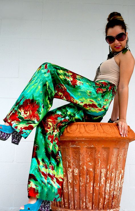 Items similar to Silk Wide Leg Pants/ Harem Pants/ Boho Silk Pants/ Burning Man Harem Pants/ Moroccan Pants/ Hippie Silk Pants/ Exotic High Waist Pants on Etsy