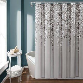 Lush Decor Weeping Flower Shower Curtain Flower Shower Curtain