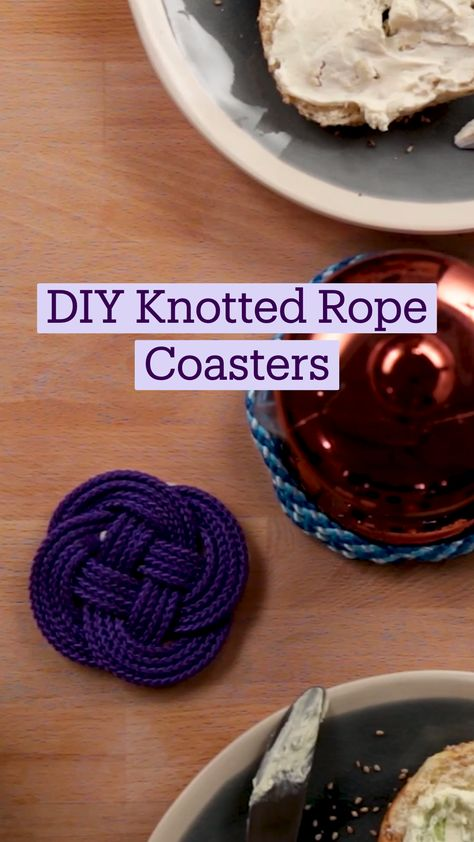 DIY Knotted Rope Coasters