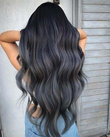 Trendy Dark Grey Ombre Hair Ombrehaircolor Hair Styles Dark Ombre Hair Long Hair Color