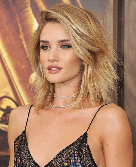 """""""I think shaggy haircuts like Rosie Huntington-Whiteley's new shorter look works great,"""" says Christian Wood, Toni & Guy U.S. celebrity stylist. """"Keeping the ends soft with lots of layers helps create volume and much needed movement."""" For an easy style, he recommends applying sea salt spray all over the hair and then blowing it dry to add texture and even more volume."""