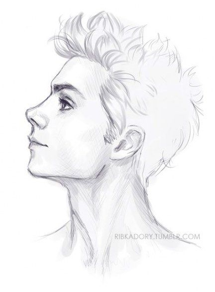 Trendy Hair Drawing Reference Profile 55 Ideas Side Face Drawing Guy Drawing Art Sketches