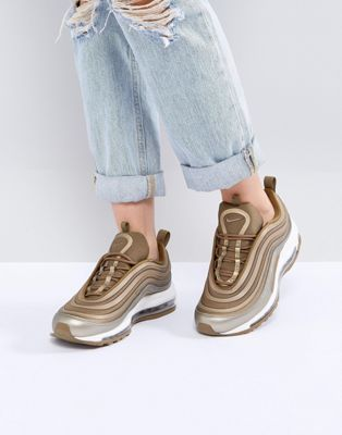 nike air max 97 trainers in metallic gold