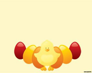 This Chicken PowerPoint presentation is very cute and has colored chicken eggs with a yellow chicken at front