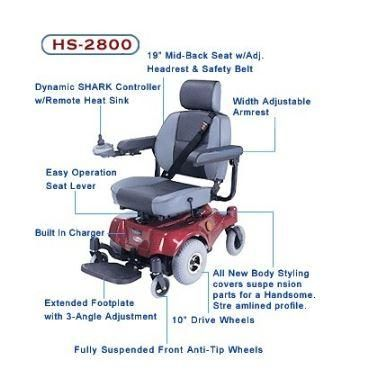 C T M Hs 2800 Compact Mid Wheel Electric Wheelchair Electric Wheelchair Powered Wheelchair Wheelchair