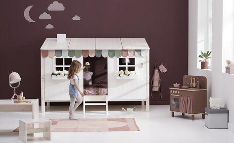 Flexa Bettgestell Flexa Classic Haus In 2020 Doppelbett Fur Kinder Kinder Zimmer Und Betten Fur Kinder