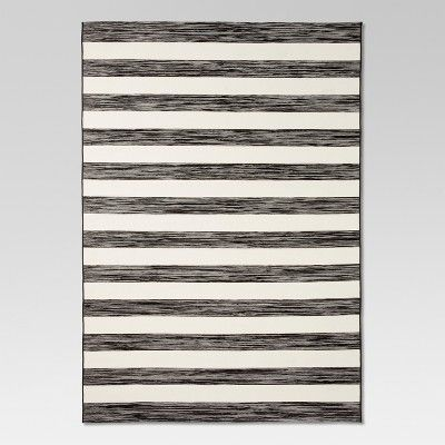 Find Product Information Ratings And Reviews For Outdoor Rug Worn Stripe Black White Threshold Online On Ta Outdoor Rugs Patio Rugs Indoor Outdoor Rugs