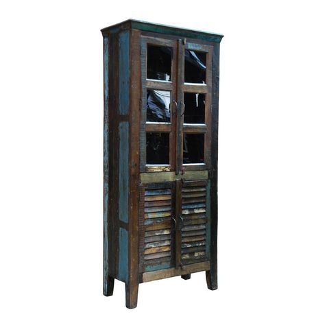 Azrou Tall Cabinet >> Gorgeous piece.  I want build something similar, but with old shutters and wine crates.