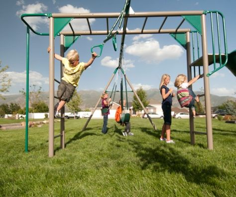Monkey Bars Are A Great Way For Children To Take Risks Safely And Have A Lot Of Fun Monkey Bars For Backyard Metal Swing Sets Monkey Bars