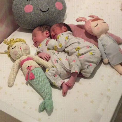 Twins are at one another's side from the start.         On #fun #aww #cute #cuteanimals #funnypictures