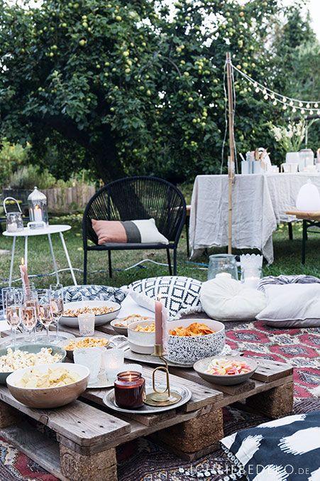 Open Air Heimkino Im Garten Ich Liebe Deko Gartenparty Deko Party Garten Heimkino