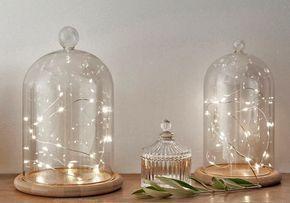 Lichterketten Modelle Fur Drinnen Und Draussen Schoner Wohnen Diyideen Glass Dome Bell Jar Fairy Lights The Bell Jar