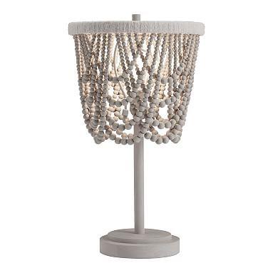 Draped Bead Table Lamp Beaded Lamps Table Lamp Draped Beading
