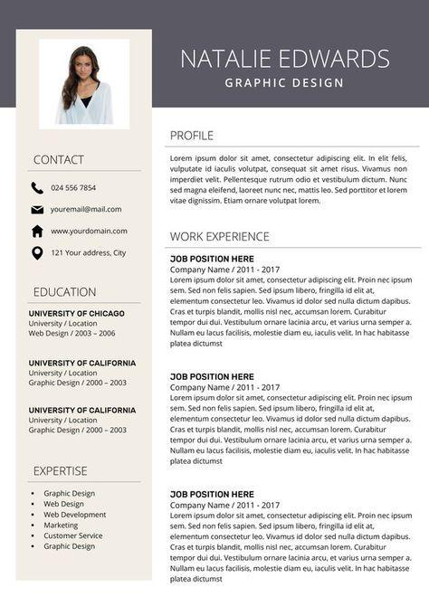 Kreative Lebenslauf Vorlage Cv Vorlage Fur Ms Word Und Etsy Creative Resume Modern Resume Design Creative Resume Templates