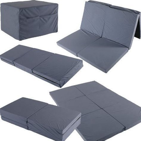 Twin Double Foldable Mattress 192x128x7cm Guest Travel Spare Bed