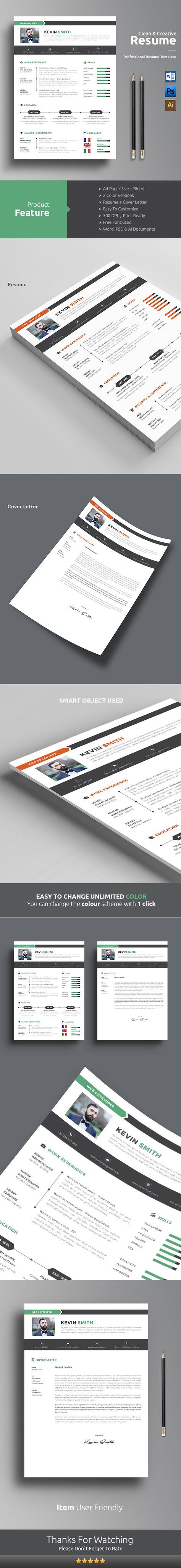 creative CV Curriculum vitea Lebenslauf graphic design portfolio ...