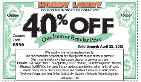 22 best hobby lobby coupons images on pinterest hobby lobby coupon 22 best hobby lobby coupons images on pinterest hobby lobby coupon code entrees and lobbies fandeluxe Choice Image