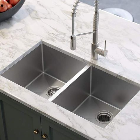 Kraus 33 L X 19 W Double Basin Undermount Kitchen Sink