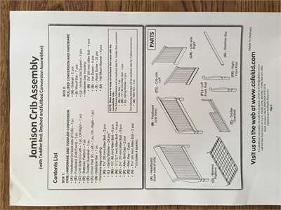 Solved Do You Have Instructions For The Cafe Kids Devon 4 Fixya Instruction Pottery Barn Crib Graco Lauren Crib