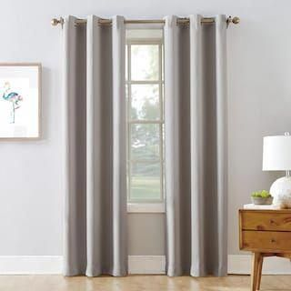 The Big One 2 Pack Decorative Solid Window Curtains