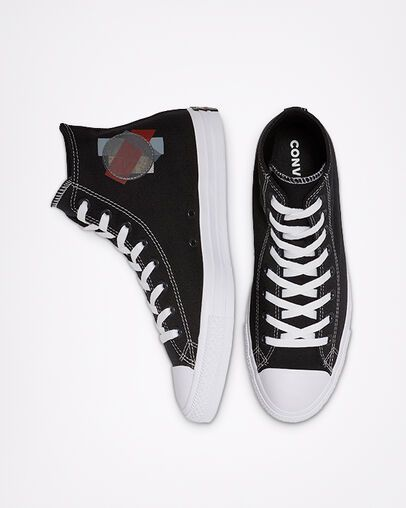 Chuck Taylor All Star Space Racer High Top BlackEnamel Red