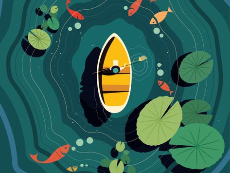 Moments of bliss - Ramaana - #green #yellow #boat #water