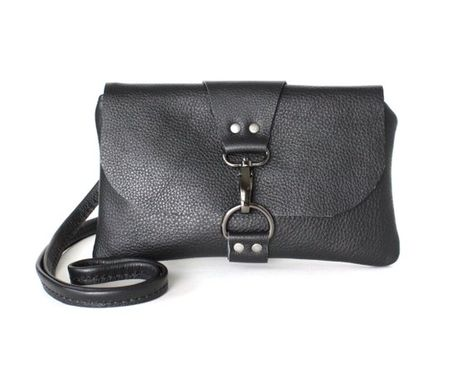 583f16fb989a Small Black Leather Crossbody Bag