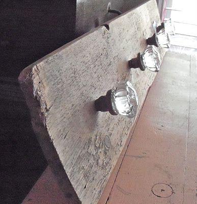 COTTAG3 vintage glass door knob hooks