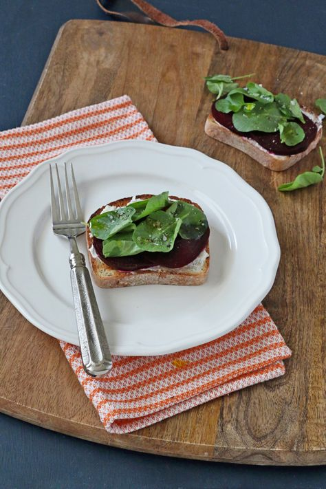 Roasted Beet and Goat Cheese Tartine | Udi's® Gluten Free Bread