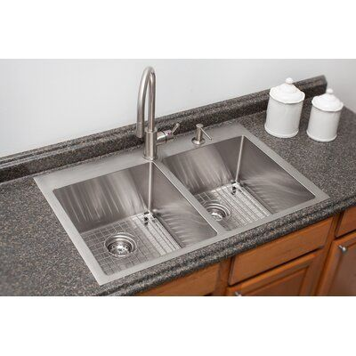 Franke Vector Stainless Steel 34 L X 23 W Double Basin Dual