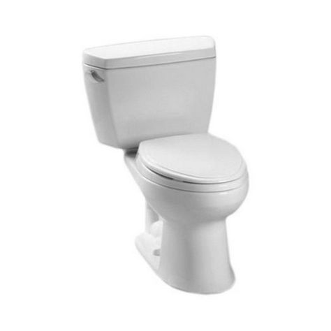 Toto Drake Two Piece Elongated 16 Gpf Universal Height Toilet For
