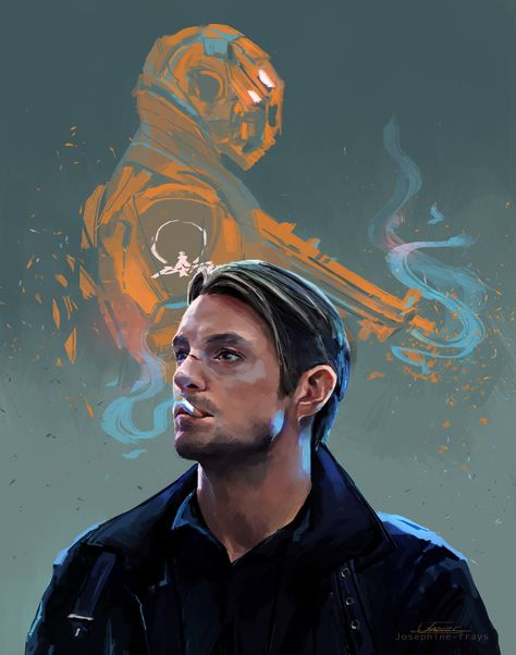 """josephine-frays: """"Have some Altered Carbon fanart. """""""